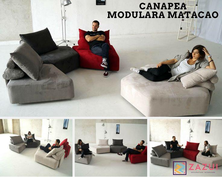 Stim, este incredibila!  Aceasta canapea iti poate schimba in fiecare zi decorul camerei tale!Trebuie neaparat sa o ai!