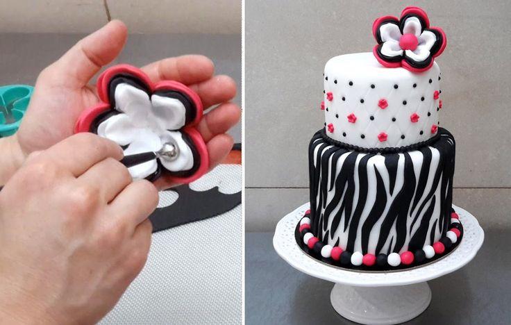 ZEBRA CAKE - How To - Cake Decorating Ideas by CakesStepbyStep