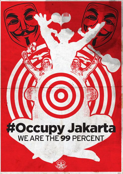 Political poster art from Indonesia