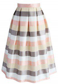 Stripes in the Spotlight Midi skirt