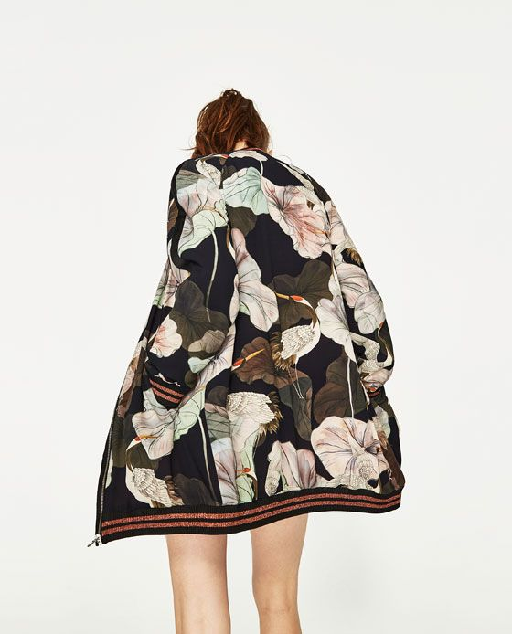 OVERSIZED PRINTED BOMBER JACKET from Zara