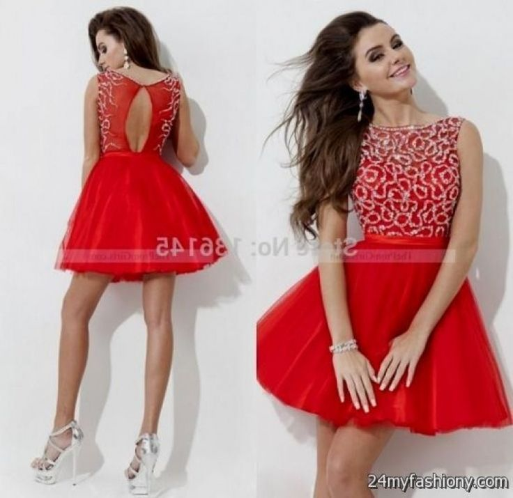 Cute Red Dress For Juniors