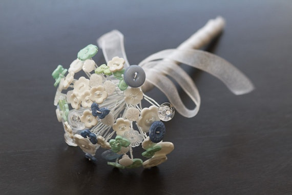 SmallButton Bouquet by ShinyMonkeyButtons on Etsy