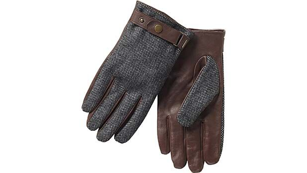 Scotch & Soda Leather Gloves with Wool Top