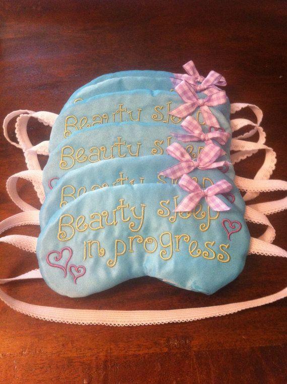 Slumber Party Favors  Set of 6 Sleep Masks by EmbroideryBySabrina, $36.00