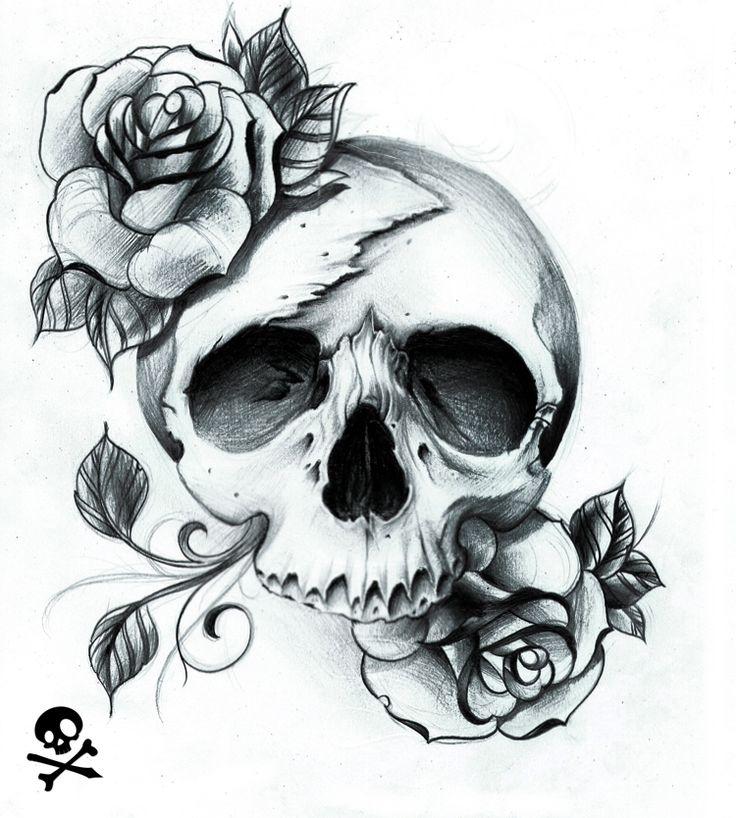 """Skulls:  """"Crispy Inspired #Skull,"""" by WillemXSM, at deviantART."""