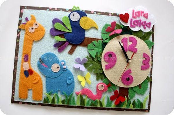 m i k y l a y n a: * handmade felt clock *