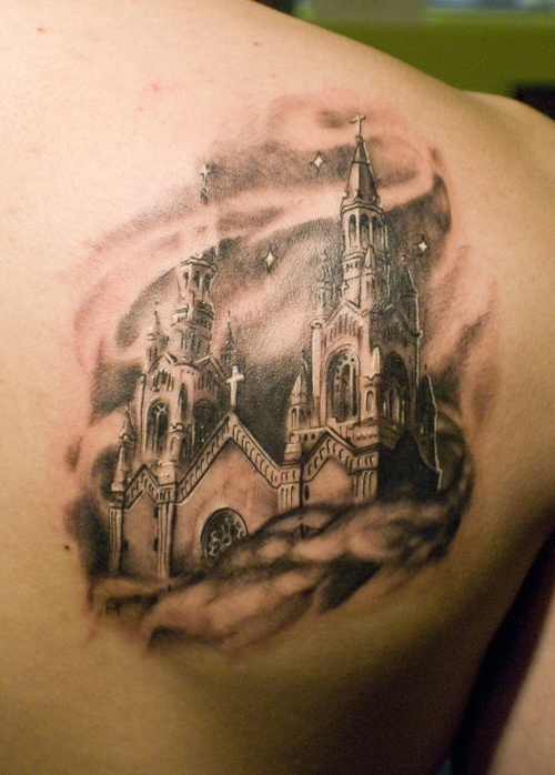 best 25 church tattoo ideas on pinterest stained glass tattoo finger tattoos and black tattoos. Black Bedroom Furniture Sets. Home Design Ideas