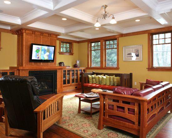 48 best Mission Style Living Rooms images on Pinterest | Log ...
