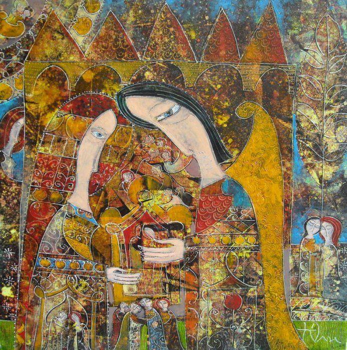 """Yuli Shumarev, """"Stars and castles"""", oil, canvas, 50/50 http://www.largogallery.com/"""