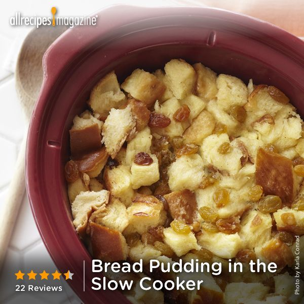 "Bread Pudding in the Slow Cooker | ""This is by far one of the best bread pudding recipes I have tried. I didn't have raisins but didn't miss them in this version of a Southern favorite. I like things like this on the sweeter side, so I added 3/4 of sugar."" -MS.KANSAS"