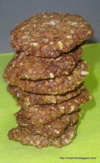 Cookies με βρώμη, μέλι και ταχίνι - Oat cookies with honey and sesame paste