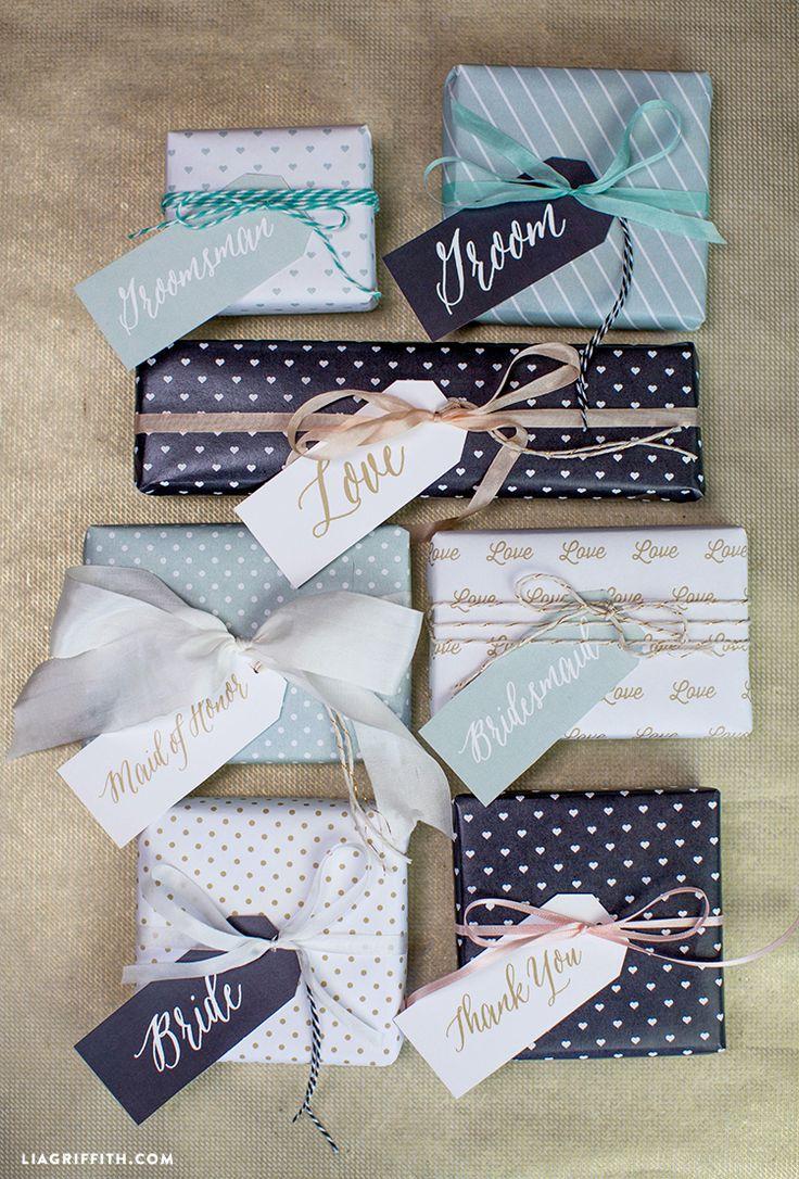 Printable Wedding Gift Tags
