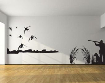 Mallard Duck Hunting Wall Decal 8ft Large Hunter and by JobstCo