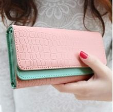 2015 new arrival women wallets retro embossing of leather double-deck  multifunction women clutch purse  free shipping(China (Mainland))