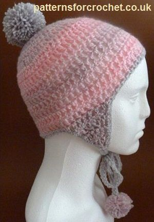 Free crochet pattern for Adult Hat with Ear Flaps http ...