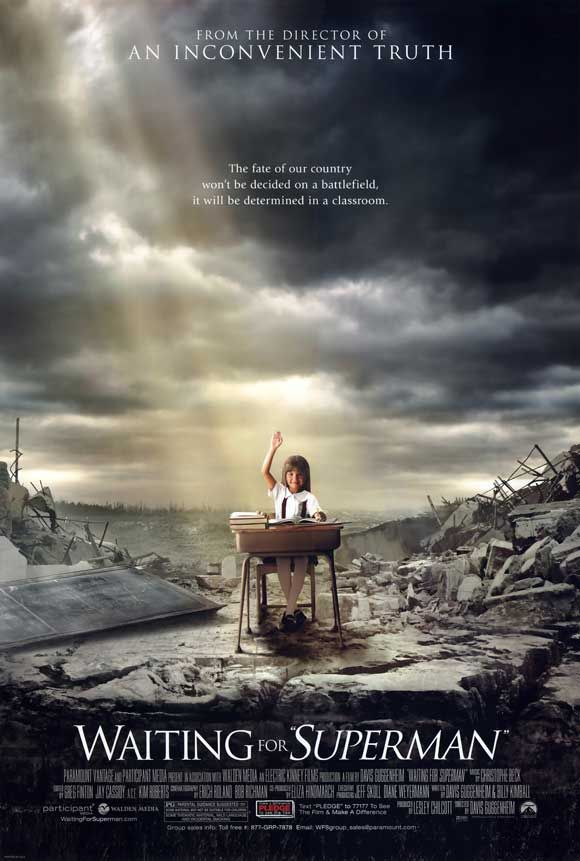the failing education system in the documentary waiting for superman The documentary waiting for superman follows five fed-up parents who are  trying to find a way for their children to escape sink-hole public schools and.