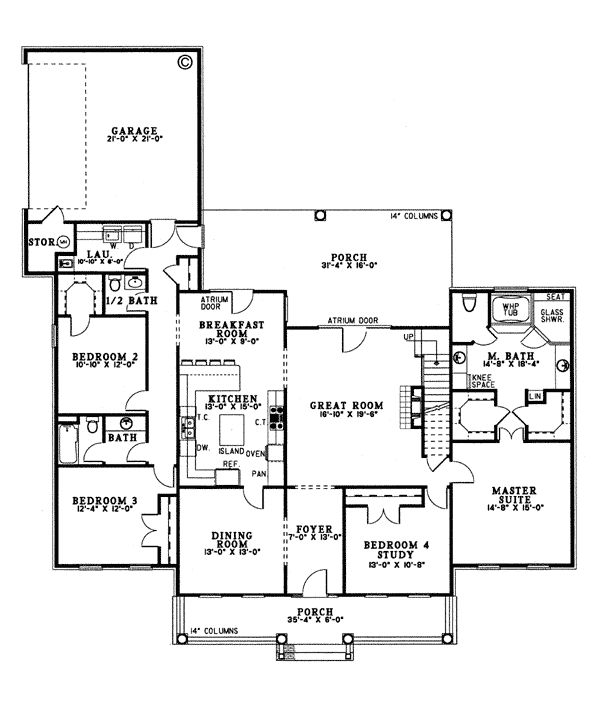 Country Southern House Plan 62074 House Plans Libraries