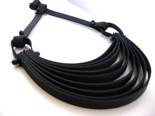 Roma- rubber necklace
