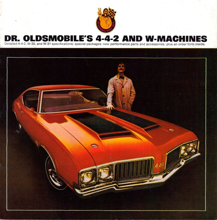 Dr. Oldsmobile 442 ad 1970. My favorite A body from GM...