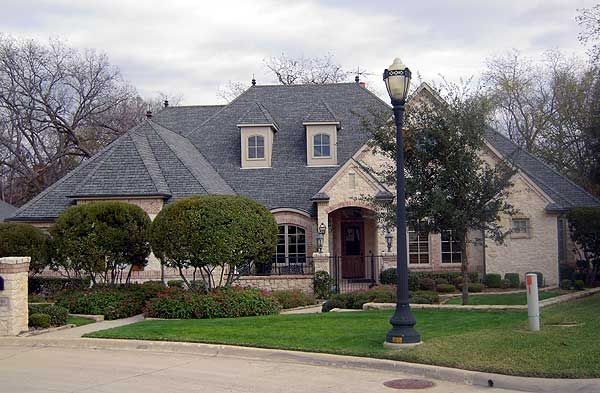 French country estate with courtyard for European estate house plans