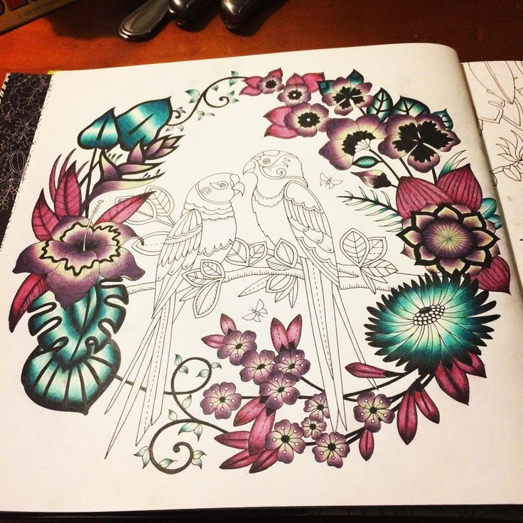 Magicaljungle Johannabasford Adultcolouring Relaxing Colored Pencil TutorialColored TechniquesColoring BooksAdult ColoringColouringJohanna