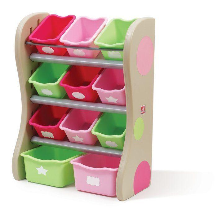Step2 Fun Time Room Organiser Pink.  Available at Kids Mega Mart Online Shop Australia