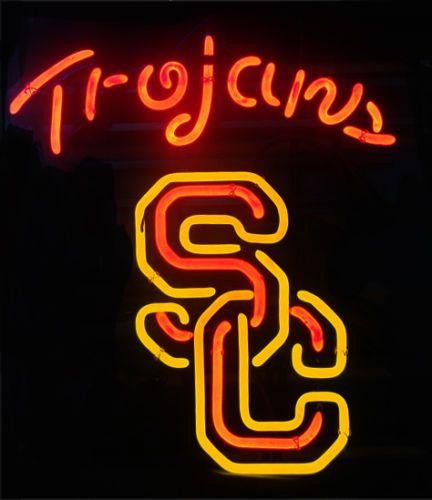 USC Trojans SC NCAA Football Neon Light Beer Pub Bar Billiards Game Room Sign | eBay
