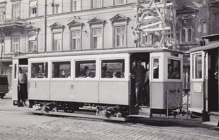 Tramwaj na Starowiślnej. Kraków, 1967 rok.