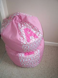 DIY bean bag chair pattern - like the initial, one for each girl