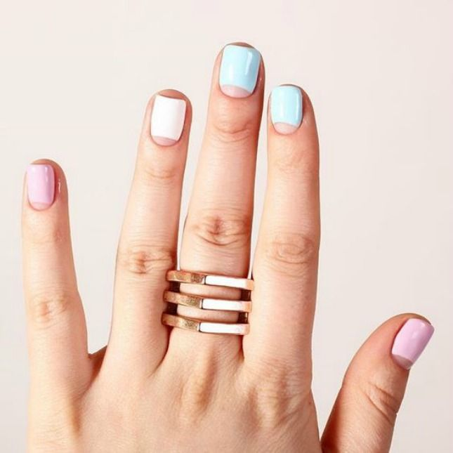 18 of the Best Half Moon Manis on Instagram | Brit + Co
