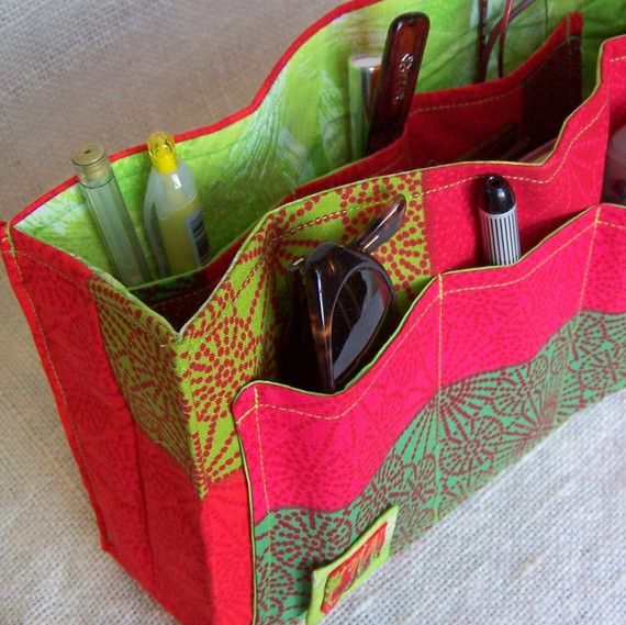 SALE DIY Purse Organizer Kit Red Hot and Cool by SweetbriarStudio