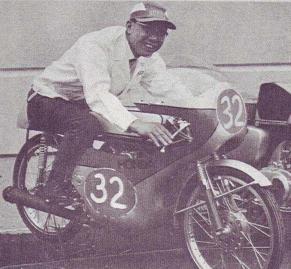 CR110 and Soichiro Honda himself