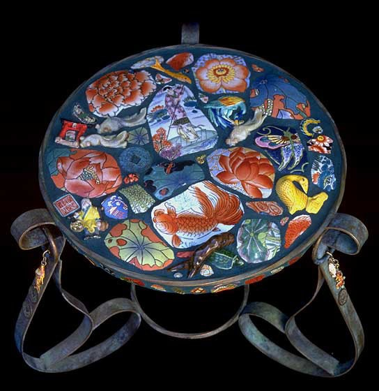 92 best mosaic tables images on pinterest mosaic tables for Koi pool table