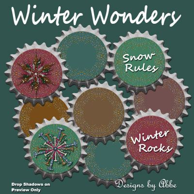 Winter Wonders Word Art Caps