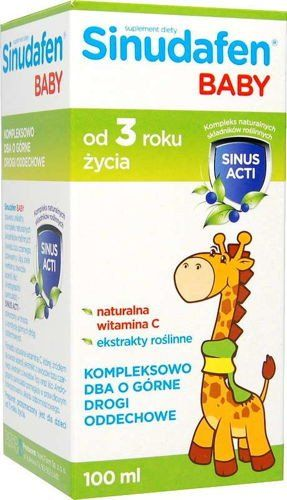 Sinudafen baby syrup for children 100ml aged 3 years