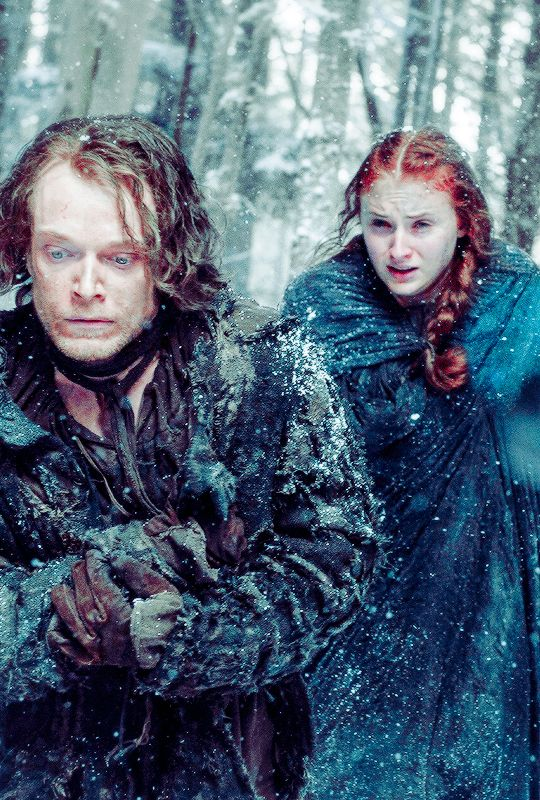 Game of Thrones Daily : Theon & Sansa GoT Season 6. It was so good tonight! And worth being up past my bedtime;)