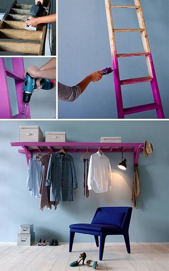 Ladder Shelves And Display Idea