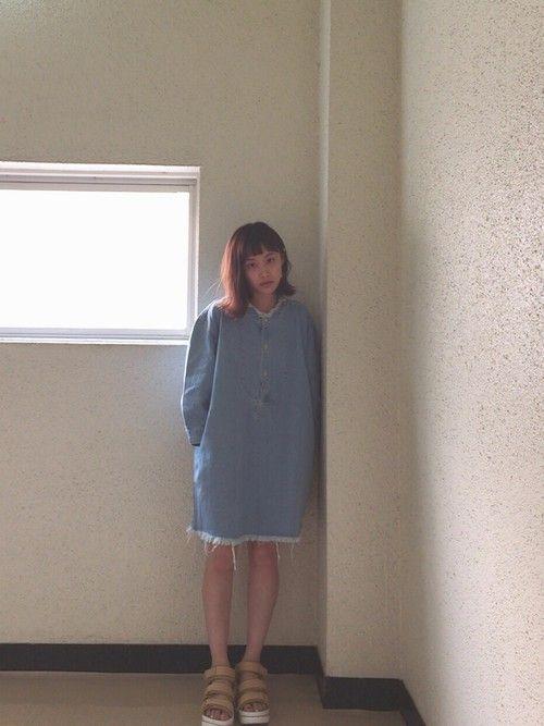 高橋愛|MOUSSYのワンピースを使ったコーディネート - WEAR