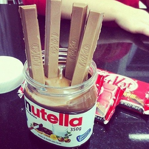 nutella + kit kat = the best thing this world has to offer. <3 I NEED to try this!!!