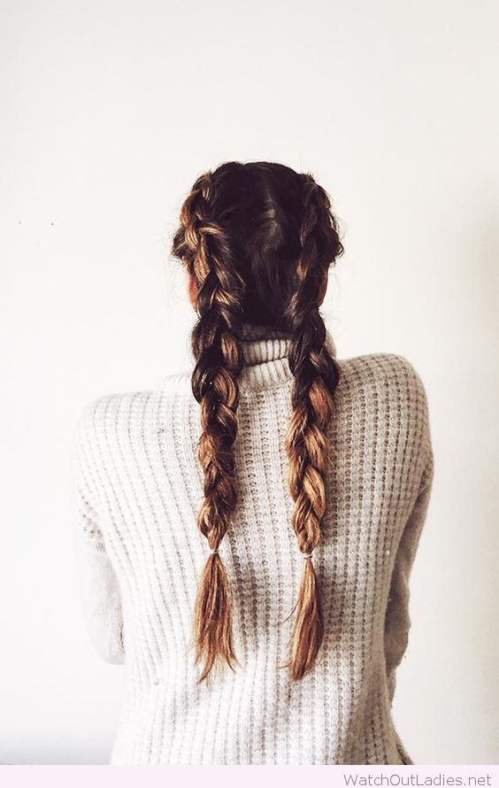 Cool french braids | Hairstyles ️ | Hair styles, Pigtail ...