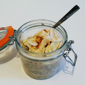 Banana and Tahini Chia Breakfast Pot