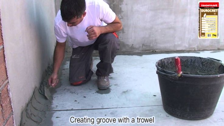 Creating groove with DUROCRET by ISOMAT S.A.