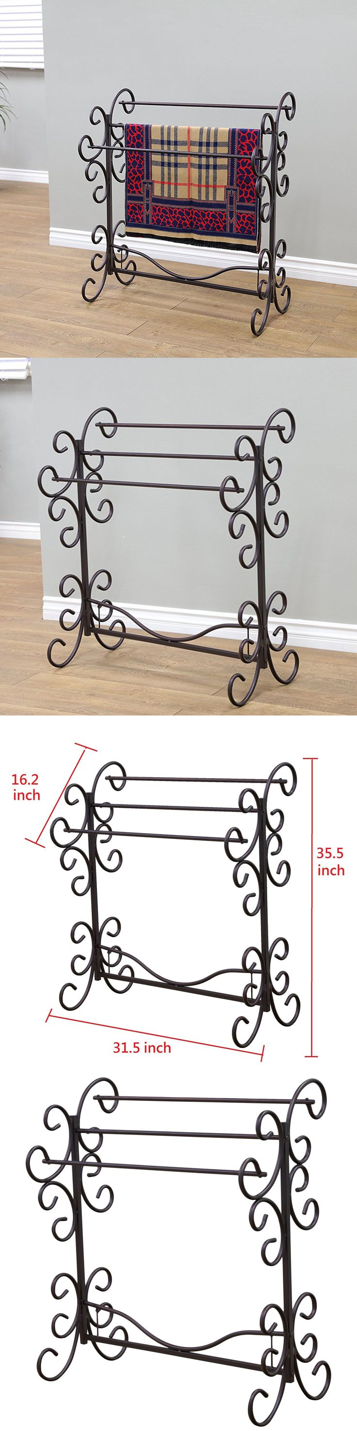 best  towel racks and stands ideas on pinterest  pvc pipe rack  - quilt hangers and stands  iron scroll blanket quilt towel rack metalhanger storage stand