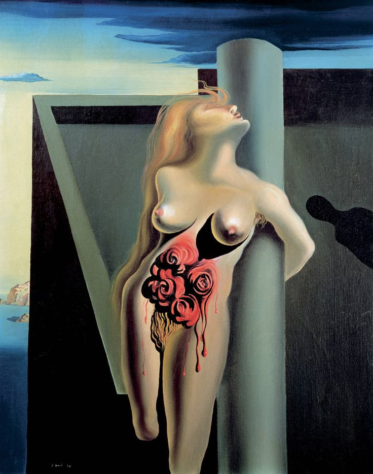 The Bleeding Roses, 1930. Salvador Dalí (Spanish, 1904-1989)~ love Dali