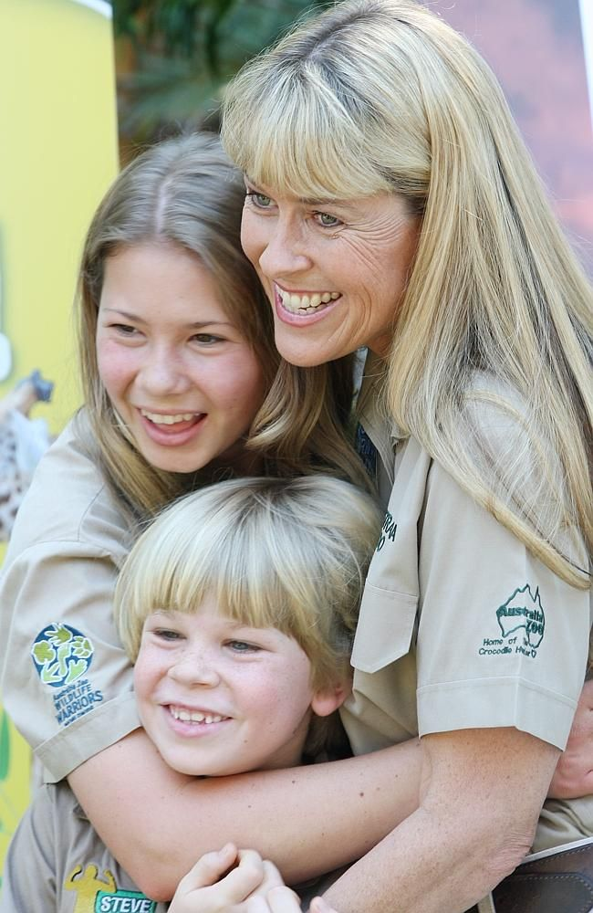 "Bindi, Robert and Terri Irwin. ""Her personal life is continually the subject of speculation in women's magazines, but Terri has revealed she may never have another man in her life.  ""I don't see that,"" she said.  ""My future is about the joy of loving those around me, of being with the people who are still here and not just mourning my loss,"" she said."