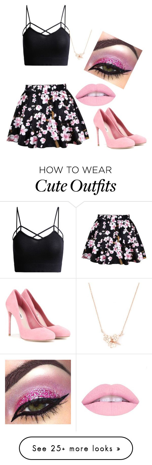 """""""Cute cherry blossom outfit"""" by gabbyj748 on Polyvore featuring Miu Miu and Shaun Leane"""