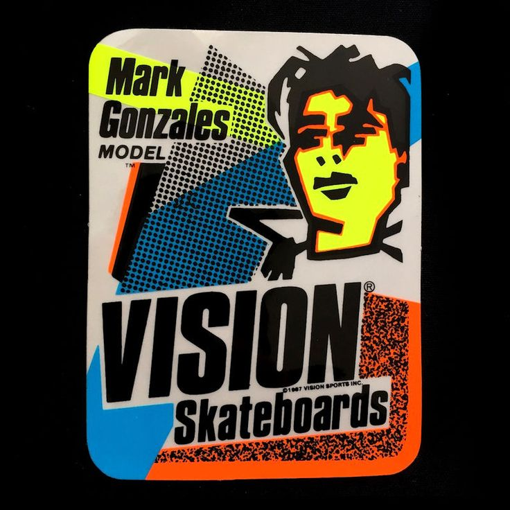 Vintage nos vision mark gonzales rare skateboard sticker skate 80s old school