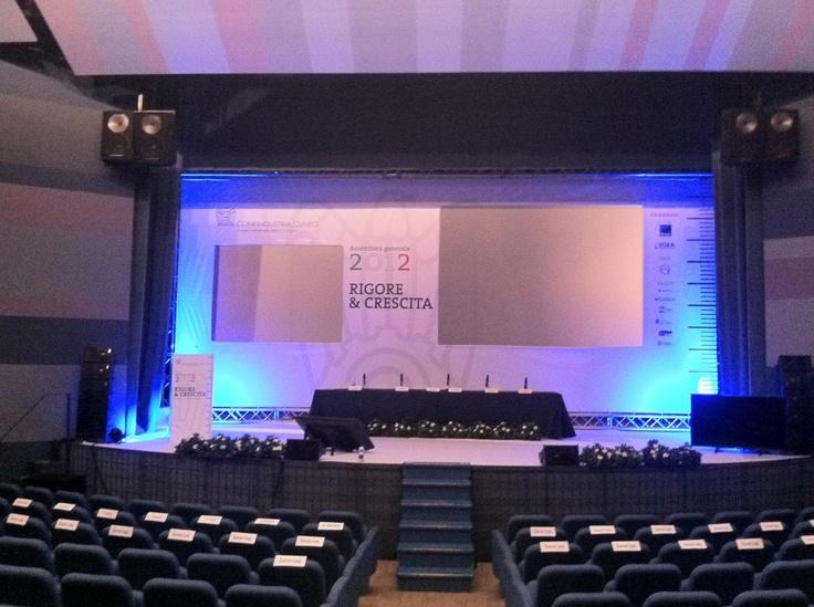 Confindustria CUNEO ALLESTIMENTO PALCO ASSEMBLEA 2012 #playadv #event #alba #