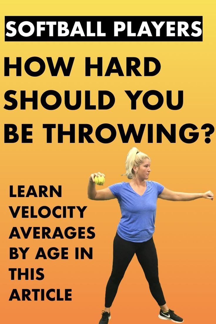 How Hard Do Most Fastpitch Softball Players Throw Softball Workouts Softball Softball Players